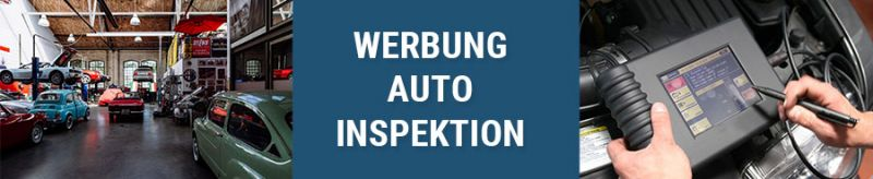 Auto Inspektion Werbung