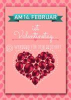 14. Februar Valentinstag Poster | Werbeposter für Valentinstag