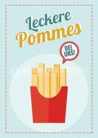 Leckere Pommes Plakat | Werbeplakat Imbiss