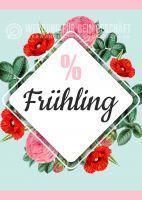 % Frühling Plakat | Werbeplakat für Geschäfte
