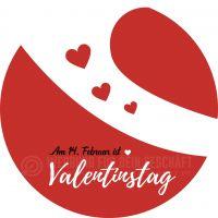 Rund | Valentinstag Plakat | Werbebanner für Valentinstag | Rundformat