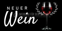 2:1   Neuer Wein Poster   Werbetafel für Wein   2 zu 1 Format