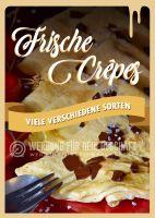 Frische Crepes Plakat | Werbeschild für Eiscafes