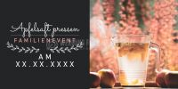 2:1 | Apfelsaft pressen Plakat | Werbeplakat für Events | 2 zu 1 Format