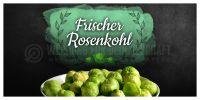 2:1 | Frischer Rosenkohl Poster | Werbetafel Rosenkohl | 2 zu 1 Format