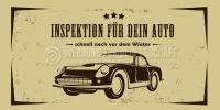 2:1 | Inspektion für dein Auto Werbetafel | Werbung für Plakatständer | 2 zu 1 Format