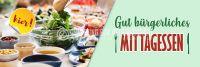 3:1 | Bürgerliches Mittagessen Werbeposter | Plakatwerbung für Imbiss | 3 zu 1 Format