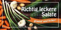 2:1   Richtig leckere Salate Poster   Werbeposter für Plakatständer   2 zu 1 Format