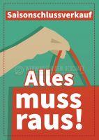 Saisonschlussverkauf Werbetafel   Plakat auch in DIN A 3