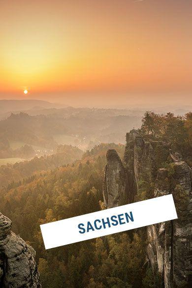 Aufgehende Sonne in Sachsen