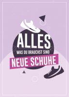 Neue Schuhe Poster   Werbebanner für Schuhgeschäfte