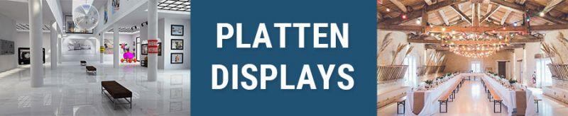 Banner für Plattendisplays