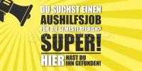 2:1   Job für die Semesterferien Poster   Werbung auch in DIN A 1   2 zu 1 Format