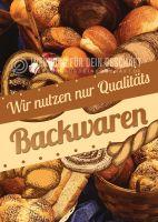 Qualitäts Backwaren Poster | Werbeschild Backwaren