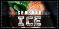 2:1 | Crushed Ice Plakat | Werbetafel für Geschäft | 2 zu 1 Format