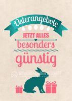 Osterangebote Plakat | Werbebanner für Geschäfte