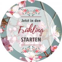 Rund | In den Frühling starten Poster | Werbetafel für Frühling | Rundformat