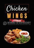 Chicken Wings Poster | Werbebanner Chicken Wings