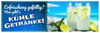 3:1 | Kühle Getränke Plakat | Werbeschild Erfrischung | 3 zu 1 Format