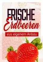 Erdbeeren Plakat