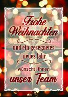 Frohe Weihnachten Plakat | Werbeschild für Geschäfte