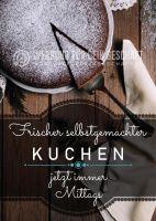 Frischer selbstgemachter Kuchen Plakat | Werbeplakat für Bäckerei