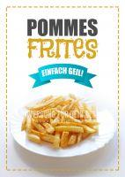 Pommes Frites Poster | Werbeplakat Imbiss