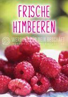 Frische Himbeeren Poster | Werbeposter für Obsthändler