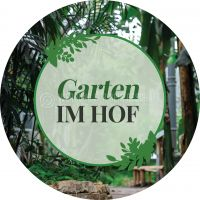 Rund | Garten im Hof Hinweisschild | Poster | Rundformat