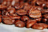 Kaffeebohnen Fliesenbild