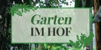 2:1 | Garten im Hof Hinweisschild | Poster | 2 zu 1 Format