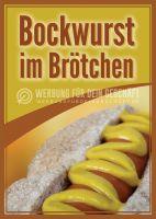 Bockwurst Poster | Werbebanner Bockwurst im Brötchen