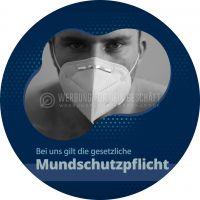 Rund | Mundschutzpflicht Hinweisschild | Plakat | Rundformat