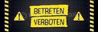 3:1 | Betreten verboten Poster | Plakat auch in DIN A0 | 3 zu 1 Format