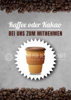 Kaffee oder Kakao Plakat | Werbebanner Kaffee