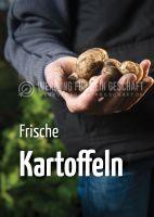 Frische Kartoffeln Werbeposter   Werbung für Plakatständer