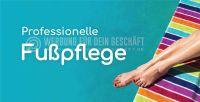 2:1 | Professionelle Fußpflege Werbebanner | Werbung für Plakatständer | 2 zu 1 Format