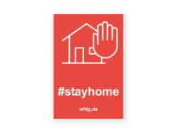 #stayhome Aufkleber | PVC-Plakat