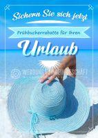 Ihr Urlaub Plakat | Werbeschild für Reisestudios