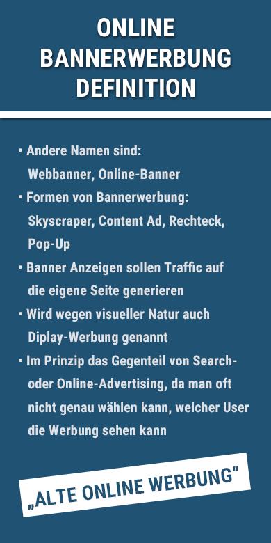 Definition der Online-Bannerwerbung