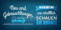 2:1 | Neu und Gebrauchtwagen Poster | Werbeposter für Autohändler | 2 zu 1 Format