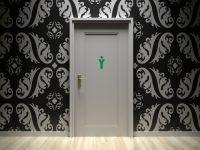 Toiletten Aufkleber | Maennlich WC Figure | Gentlemen gruen