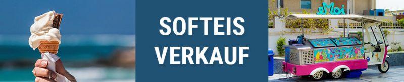 Banner für Softeisverkauf