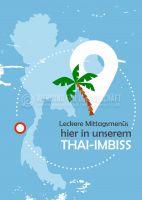 Leckere Mittagsmenüs Thai-Imbiss Poster | Werbung