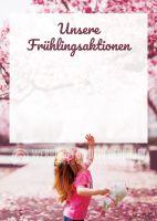 Unsere Frühlingsaktionen Werbeposter | Plakat für Werbeaufsteller