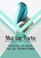 Mut zur Farbe Plakat | Werbebanner für Friseure