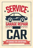Garage Repair Poster | Autoreparatur
