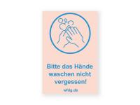 Hände waschen Aufkleber | PVC-Plakat