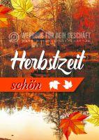 Herbstzeit schön Poster | Werbetafel für Herbst