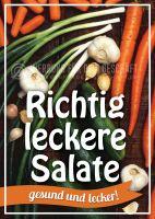 Richtig leckere Salate Poster | Werbeposter für Plakatständer